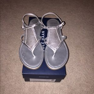 New Cole Haan Silver sandals size 7